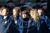 Remembrance Sunday at the Cenotaph in London 2014: Group M26 - The Blue Cross. Press stand opposite the Foreign Office building, Whitehall, London SW1, London, Greater London, United Kingdom, on 09 November 2014 at 12:18, image #2199