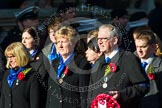 Remembrance Sunday at the Cenotaph in London 2014: Group M27 - PDSA. Press stand opposite the Foreign Office building, Whitehall, London SW1, London, Greater London, United Kingdom, on 09 November 2014 at 12:18, image #2205