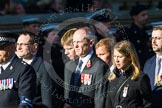 Remembrance Sunday at the Cenotaph in London 2014: Group M33 - Ministry of Defence (MoD) Civilians. Press stand opposite the Foreign Office building, Whitehall, London SW1, London, Greater London, United Kingdom, on 09 November 2014 at 12:19, image #2237