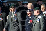 Remembrance Sunday at the Cenotaph in London 2014: Group M35 - Union Jack Club. Press stand opposite the Foreign Office building, Whitehall, London SW1, London, Greater London, United Kingdom, on 09 November 2014 at 12:19, image #2260