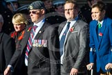Remembrance Sunday at the Cenotaph in London 2014: Group M35 - Union Jack Club. Press stand opposite the Foreign Office building, Whitehall, London SW1, London, Greater London, United Kingdom, on 09 November 2014 at 12:19, image #2262