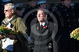 Remembrance Sunday at the Cenotaph in London 2014: Group M37 - Shot at Dawn Pardons Campaign. Press stand opposite the Foreign Office building, Whitehall, London SW1, London, Greater London, United Kingdom, on 09 November 2014 at 12:19, image #2272