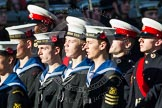 Remembrance Sunday at the Cenotaph in London 2014: Group M45 - Sea Cadet Corps. Press stand opposite the Foreign Office building, Whitehall, London SW1, London, Greater London, United Kingdom, on 09 November 2014 at 12:21, image #2280