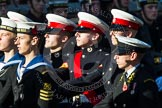 Remembrance Sunday at the Cenotaph in London 2014: Group M45 - Sea Cadet Corps. Press stand opposite the Foreign Office building, Whitehall, London SW1, London, Greater London, United Kingdom, on 09 November 2014 at 12:21, image #2281
