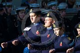 Remembrance Sunday at the Cenotaph in London 2014: Group M46 - Combined Cadet Force. Press stand opposite the Foreign Office building, Whitehall, London SW1, London, Greater London, United Kingdom, on 09 November 2014 at 12:21, image #2282