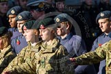 Remembrance Sunday at the Cenotaph in London 2014: Group M47 - Army Cadet Force. Press stand opposite the Foreign Office building, Whitehall, London SW1, London, Greater London, United Kingdom, on 09 November 2014 at 12:21, image #2293