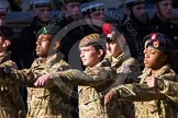 Remembrance Sunday at the Cenotaph in London 2014: Group M47 - Army Cadet Force. Press stand opposite the Foreign Office building, Whitehall, London SW1, London, Greater London, United Kingdom, on 09 November 2014 at 12:21, image #2294