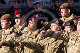 Remembrance Sunday at the Cenotaph in London 2014: Group M47 - Army Cadet Force. Press stand opposite the Foreign Office building, Whitehall, London SW1, London, Greater London, United Kingdom, on 09 November 2014 at 12:21, image #2295