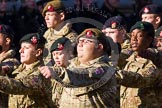Remembrance Sunday at the Cenotaph in London 2014: Group M47 - Army Cadet Force. Press stand opposite the Foreign Office building, Whitehall, London SW1, London, Greater London, United Kingdom, on 09 November 2014 at 12:21, image #2296