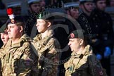 Remembrance Sunday at the Cenotaph in London 2014: Group M47 - Army Cadet Force. Press stand opposite the Foreign Office building, Whitehall, London SW1, London, Greater London, United Kingdom, on 09 November 2014 at 12:21, image #2301