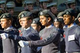 Remembrance Sunday at the Cenotaph in London 2014: Group M48 - Air Training Corps. Press stand opposite the Foreign Office building, Whitehall, London SW1, London, Greater London, United Kingdom, on 09 November 2014 at 12:21, image #2304