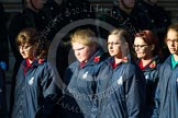 Remembrance Sunday at the Cenotaph in London 2014: Group M52 - Girls Brigade England & Wales. Press stand opposite the Foreign Office building, Whitehall, London SW1, London, Greater London, United Kingdom, on 09 November 2014 at 12:21, image #2332