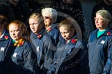 Remembrance Sunday at the Cenotaph in London 2014: Group M52 - Girls Brigade England & Wales. Press stand opposite the Foreign Office building, Whitehall, London SW1, London, Greater London, United Kingdom, on 09 November 2014 at 12:22, image #2338