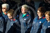 Remembrance Sunday at the Cenotaph in London 2014: Group M52 - Girls Brigade England & Wales. Press stand opposite the Foreign Office building, Whitehall, London SW1, London, Greater London, United Kingdom, on 09 November 2014 at 12:22, image #2339