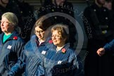 Remembrance Sunday at the Cenotaph in London 2014: Group M52 - Girls Brigade England & Wales. Press stand opposite the Foreign Office building, Whitehall, London SW1, London, Greater London, United Kingdom, on 09 November 2014 at 12:22, image #2340