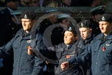 Remembrance Sunday at the Cenotaph in London 2014: Group M54 - Metropolitan Police Volunteer Police Cadets. Press stand opposite the Foreign Office building, Whitehall, London SW1, London, Greater London, United Kingdom, on 09 November 2014 at 12:22, image #2355