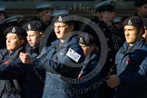 Remembrance Sunday at the Cenotaph in London 2014: Group M54 - Metropolitan Police Volunteer Police Cadets. Press stand opposite the Foreign Office building, Whitehall, London SW1, London, Greater London, United Kingdom, on 09 November 2014 at 12:22, image #2356