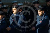 Remembrance Sunday at the Cenotaph in London 2014: Group M54 - Metropolitan Police Volunteer Police Cadets. Press stand opposite the Foreign Office building, Whitehall, London SW1, London, Greater London, United Kingdom, on 09 November 2014 at 12:22, image #2357