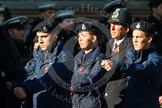 Remembrance Sunday at the Cenotaph in London 2014: Group M54 - Metropolitan Police Volunteer Police Cadets. Press stand opposite the Foreign Office building, Whitehall, London SW1, London, Greater London, United Kingdom, on 09 November 2014 at 12:22, image #2358