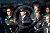 Remembrance Sunday at the Cenotaph in London 2014: Group M54 - Metropolitan Police Volunteer Police Cadets. Press stand opposite the Foreign Office building, Whitehall, London SW1, London, Greater London, United Kingdom, on 09 November 2014 at 12:22, image #2360