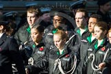 Remembrance Sunday at the Cenotaph in London 2014: Group M55 - St John Ambulance Cadets. Press stand opposite the Foreign Office building, Whitehall, London SW1, London, Greater London, United Kingdom, on 09 November 2014 at 12:22, image #2361