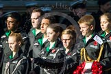 Remembrance Sunday at the Cenotaph in London 2014: Group M55 - St John Ambulance Cadets. Press stand opposite the Foreign Office building, Whitehall, London SW1, London, Greater London, United Kingdom, on 09 November 2014 at 12:22, image #2362