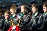 Remembrance Sunday at the Cenotaph in London 2014: Group M55 - St John Ambulance Cadets. Press stand opposite the Foreign Office building, Whitehall, London SW1, London, Greater London, United Kingdom, on 09 November 2014 at 12:22, image #2363