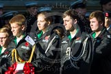 Remembrance Sunday at the Cenotaph in London 2014: Group M55 - St John Ambulance Cadets. Press stand opposite the Foreign Office building, Whitehall, London SW1, London, Greater London, United Kingdom, on 09 November 2014 at 12:22, image #2364