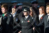Remembrance Sunday at the Cenotaph in London 2014: Group M55 - St John Ambulance Cadets. Press stand opposite the Foreign Office building, Whitehall, London SW1, London, Greater London, United Kingdom, on 09 November 2014 at 12:22, image #2365