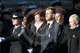 Remembrance Sunday at the Cenotaph in London 2014: Group M56 - YMCA. Press stand opposite the Foreign Office building, Whitehall, London SW1, London, Greater London, United Kingdom, on 09 November 2014 at 12:22, image #2366