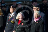 Remembrance Sunday at the Cenotaph in London 2014: Group M57 - TRBL Women's Section. Press stand opposite the Foreign Office building, Whitehall, London SW1, London, Greater London, United Kingdom, on 09 November 2014 at 12:22, image #2373