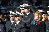 Remembrance Sunday at the Cenotaph in London 2014: Group M?? - HMRC. Press stand opposite the Foreign Office building, Whitehall, London SW1, London, Greater London, United Kingdom, on 09 November 2014 at 12:22, image #2376