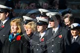 Remembrance Sunday at the Cenotaph in London 2014: Group M?? - HMRC. Press stand opposite the Foreign Office building, Whitehall, London SW1, London, Greater London, United Kingdom, on 09 November 2014 at 12:22, image #2377