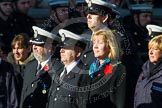 Remembrance Sunday at the Cenotaph in London 2014: Group M?? - HMRC. Press stand opposite the Foreign Office building, Whitehall, London SW1, London, Greater London, United Kingdom, on 09 November 2014 at 12:22, image #2378