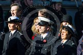 Remembrance Sunday at the Cenotaph in London 2014: Group M?? - HMRC. Press stand opposite the Foreign Office building, Whitehall, London SW1, London, Greater London, United Kingdom, on 09 November 2014 at 12:22, image #2381