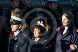 Remembrance Sunday at the Cenotaph in London 2014: Group M?? - HMRC. Press stand opposite the Foreign Office building, Whitehall, London SW1, London, Greater London, United Kingdom, on 09 November 2014 at 12:22, image #2382