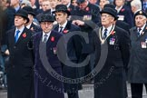 Remembrance Sunday at the Cenotaph in London 2014: Representatives of the major charities that will lay a wreath later. Press stand opposite the Foreign Office building, Whitehall, London SW1, London, Greater London, United Kingdom, on 09 November 2014 at 10:21, image #48