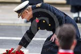 Remembrance Sunday at the Cenotaph in London 2014: HRH The Duke of Edinburgh laying his wreath at the Cenotaph. Press stand opposite the Foreign Office building, Whitehall, London SW1, London, Greater London, United Kingdom, on 09 November 2014 at 11:04, image #192