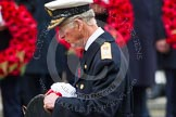Remembrance Sunday at the Cenotaph in London 2014: HRH the Prince of Wales walking towards the Cenotaph with his wreath. Press stand opposite the Foreign Office building, Whitehall, London SW1, London, Greater London, United Kingdom, on 09 November 2014 at 11:04, image #195