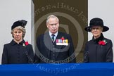 Remembrance Sunday at the Cenotaph in London 2014: THR The Duchess and Duke of Gloucester, and HRH Princess Alexandra, the Hon. Lady Ogilvy, on the centre balcony of the Foreign- and Commonwealth Office building. Press stand opposite the Foreign Office building, Whitehall, London SW1, London, Greater London, United Kingdom, on 09 November 2014 at 11:05, image #199