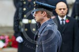 Remembrance Sunday at the Cenotaph in London 2014: HRH The Duke of Cambridge saluting at the Cenotaph. Press stand opposite the Foreign Office building, Whitehall, London SW1, London, Greater London, United Kingdom, on 09 November 2014 at 11:05, image #205