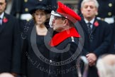 Remembrance Sunday at the Cenotaph in London 2014: HRH The Earl of Wessex saluting at the Cenotaph. Press stand opposite the Foreign Office building, Whitehall, London SW1, London, Greater London, United Kingdom, on 09 November 2014 at 11:06, image #213