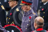 Remembrance Sunday at the Cenotaph in London 2014: HRH The Duke of Kent receiving his wreath from his equerry. Press stand opposite the Foreign Office building, Whitehall, London SW1, London, Greater London, United Kingdom, on 09 November 2014 at 11:06, image #214