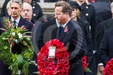 Remembrance Sunday at the Cenotaph in London 2014: Prime Minister David Cameron walking towards the Cenotaph with his wreath.. Press stand opposite the Foreign Office building, Whitehall, London SW1, London, Greater London, United Kingdom, on 09 November 2014 at 11:06, image #217
