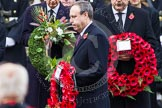 Remembrance Sunday at the Cenotaph in London 2014: The leader of the Democratic Unionist Party, Nigel Dodds, walking towards the Cenotaph with his wreath. Press stand opposite the Foreign Office building, Whitehall, London SW1, London, Greater London, United Kingdom, on 09 November 2014 at 11:08, image #229