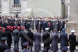 Remembrance Sunday at the Cenotaph in London 2014: The High Commissioners about to lay their wreaths. Press stand opposite the Foreign Office building, Whitehall, London SW1, London, Greater London, United Kingdom, on 09 November 2014 at 11:10, image #239