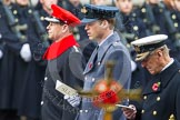 Remembrance Sunday at the Cenotaph in London 2014: HRH  The Earl of Wessex, HRH The Duke of Cambridge, and HRH the Duke of Edinburgh singing at the service. Press stand opposite the Foreign Office building, Whitehall, London SW1, London, Greater London, United Kingdom, on 09 November 2014 at 11:16, image #267