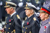 Remembrance Sunday at the Cenotaph in London 2014: HRH The Prince of Wales, HRH The Duke of York and HRH The Duke of Kent singing at the service. Press stand opposite the Foreign Office building, Whitehall, London SW1, London, Greater London, United Kingdom, on 09 November 2014 at 11:16, image #269
