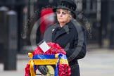 Remembrance Sunday at the Cenotaph in London 2014: The Royal British Legion Women's Section National Chairman Mrs Marilyn Humphry. Press stand opposite the Foreign Office building, Whitehall, London SW1, London, Greater London, United Kingdom, on 09 November 2014 at 11:26, image #303