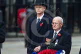 Remembrance Sunday at the Cenotaph in London 2014: The representative of the Royal Navy Association. Press stand opposite the Foreign Office building, Whitehall, London SW1, London, Greater London, United Kingdom, on 09 November 2014 at 11:26, image #304